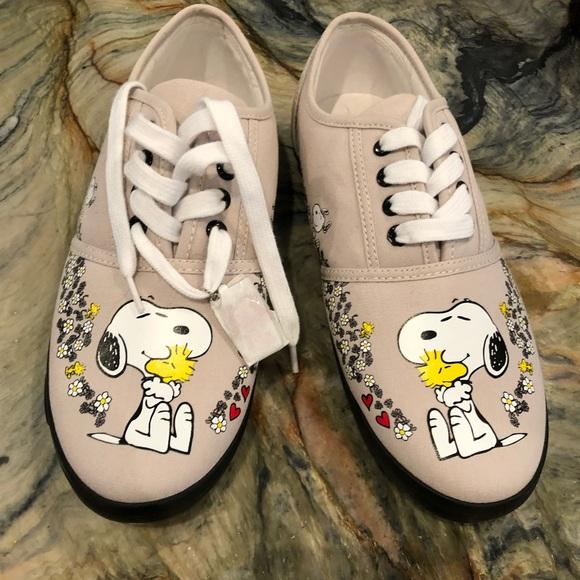 6343e50b75 Bradford Exchange Shoes - Snoopy   Woodstock Tennis Shoes